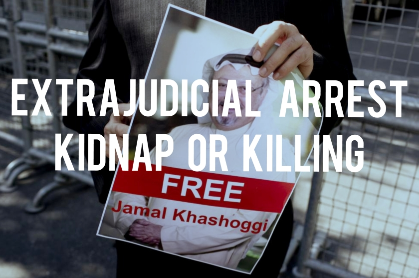 Kidnap and Ransom - extrajudicial arrest is kidnapping