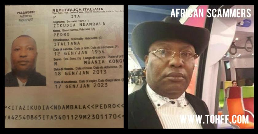 african scammer - Pedro Zikudia Ndambala